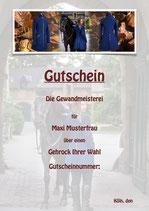 Gutschein, Gehrock
