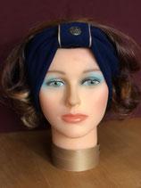 Stirnband, Blau-Champagner