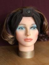 Stirnband, Braun-Brombeer