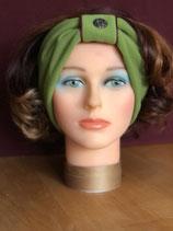 Stirnband, Grün-Brombeer