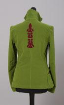 Damenjacke-Klassik, Grün mit Lilie