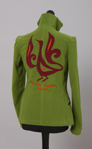 Damenjacke-Klassik, Grün mit Phoenix