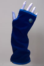 Pulswärmer, Blau-Wolleblau