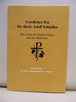 Geistlicher Rat, Dr. theol. Adolf Schindler