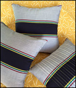 Navy Sampin Stripe Set - Each pillow unique