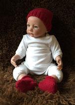 Newborn-Set aus Alpaka-Seide-Wolle