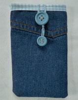 Smartphone/Handy-Tasche JEANS, dunkelblau, karo