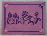 """Pinnwand """"Violette Blumen"""""""