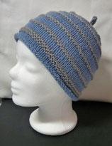 Mütze Ringel blau