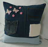 Jeanskissen, PATCHUP, Butterfly