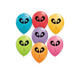 Rundballons Alien Party Mischung