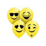 Round Balloons Smiley Face