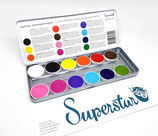 "Superstar 12 color Palette ""Sparkling Faces"""