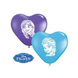 Herzballons Anna und Elsa
