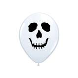 Round Balloons White Skull