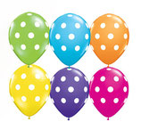 Round Balloons Big Polka Dots Tropical Assortment
