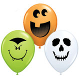 Rundballons Halloween Mischung