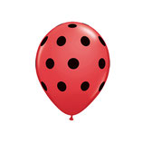Round Balloons Red Big Polka Dots