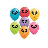 Round Balloons Alien Festive Sortiment