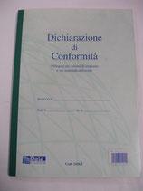 DICHIARAZIONE DI CONFORMITA'  IN A4 COD. 1426.1