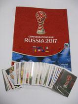 SET COMPLETO + ALBUM CONFEDERATIONS CUP RUSSIA 2017 PANINI