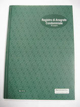 REGISTRO DI ANAGRAFE CONDOMINIALE 48 PAGINE MOD. 18 16