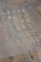 Jeanne d' Arc Living Schablone Alphabet