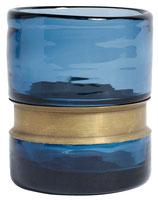 Glas blau mit Messing