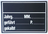 Stalltafel deutsch, mit Markennummer-Feld, Masse 18 x 25.7 cm