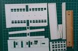 阿里山 SP2 光復号客車 中央ドア 車体キット ペーパー(紙)2両