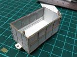 甘蔗車後期型(機械積)ペーパーキット(紙)+ステンレス網(5両入)