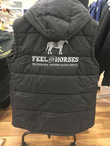 Steppweste Herren/Unisex FEEL FOR HORSES