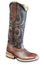 Western Boots Bulls Eye BROWN