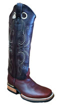 Western Boots Bulls Eye BROWN EXTRA HIGH SHAFT