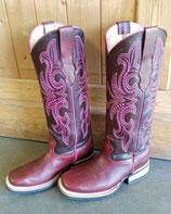 Western Boots Bulls Eye PINK