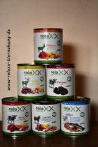 Gemischer Tray mit allen 6 Relaxx-Nassfutter Sorten