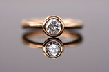 Verlobungs-Ring aus Roségold mit Brillant 0,5 ct Classic-Collection