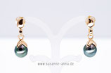Perl-Ohrstecker mit Tahitiperl-Tropfen Gold