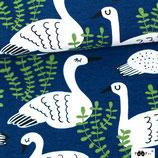 Cagoules cygnes fond bleu
