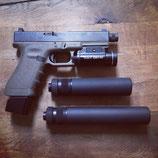 B&T Impuls-IIA™ Pistolenschalldämpfer, Kal. 9x19mm, 13.5x1 links