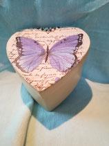 Schmetterlinge lila/beige