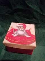 Tigerkätzchen mit Weihnachtsmütze