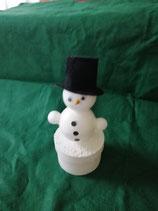 Schneemann mit Zylinder oder roter Weihnachtsmütze