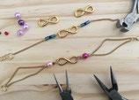 Atelier DIY : création de bijoux - bracelet infinity