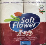 CARTA IGIENICA SOFT FLOWER LOVE 4 ROTOLI