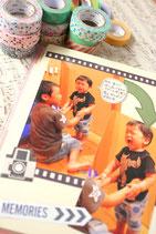 追加2冊限定【写真がいっぱい貼れるアルバムページの作り方】