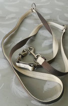 Laisse multifonction tissus gris et beige 1,90 m