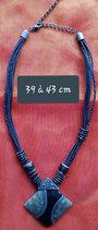 Collier 39 cm à 43 cm de longueur