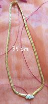 Collier 54 cm de longueur doré