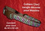 Collier classique pour Mastin, tour de cou 44 à 60 cm